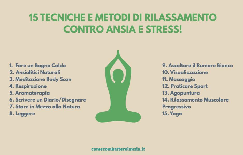 tecniche di rilassamento mentale e fisico